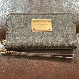 Michael Kors Brown Wallet and Wristlet